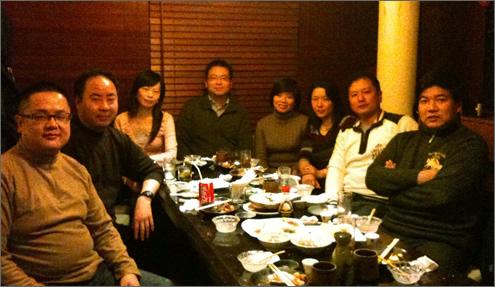 上海支部で忘年会が行われました