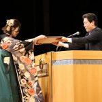 2017年度卒業式で「有朋会賞」が発表されました